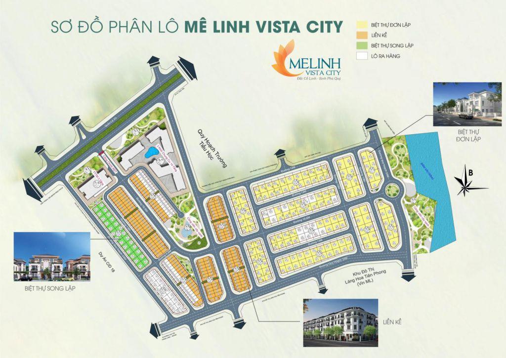 mặt bằng dự án mê linh vista city