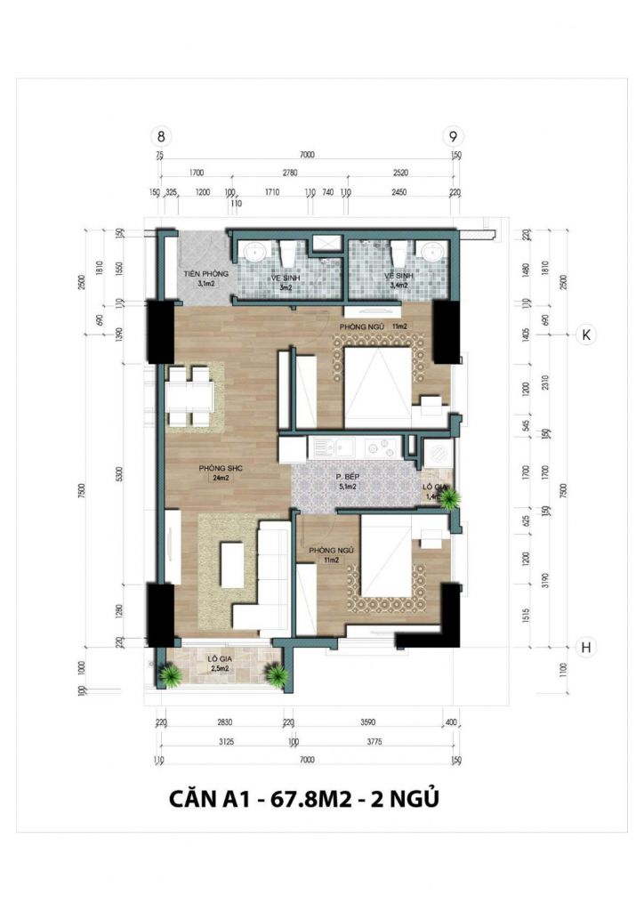 thiết kế căn hộ the jade orchid
